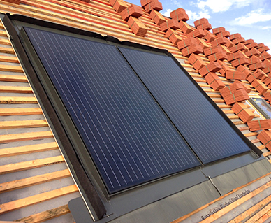 in-roof solar on new homes