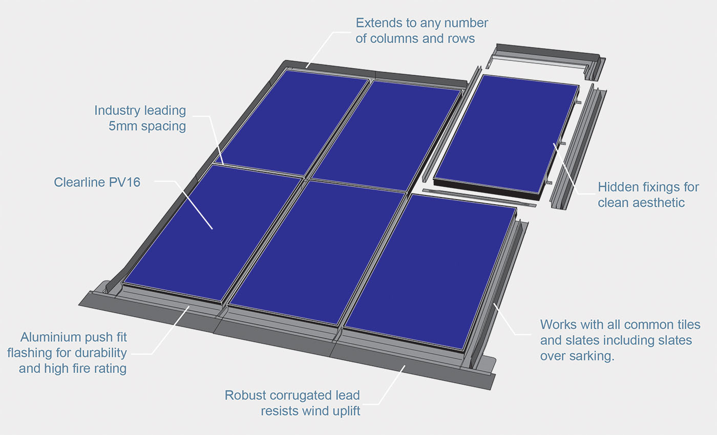 roof integrated solar pv exploded diagram
