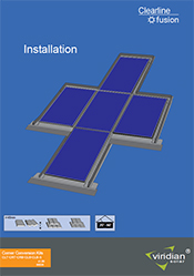roof integrated pv installation with inside corners