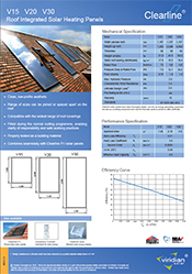 in roof solar thermal panels datasheet