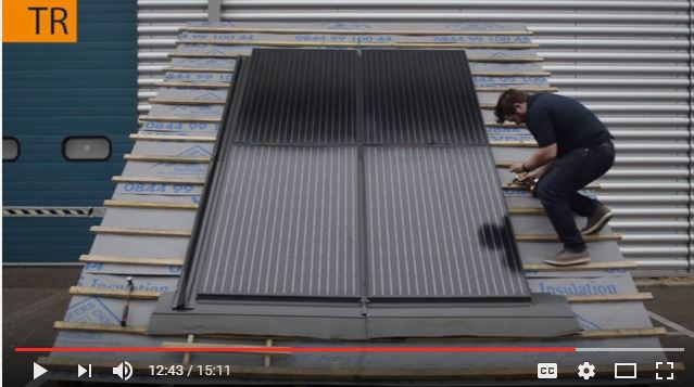 roof integrated solar installation video - 2x2 array