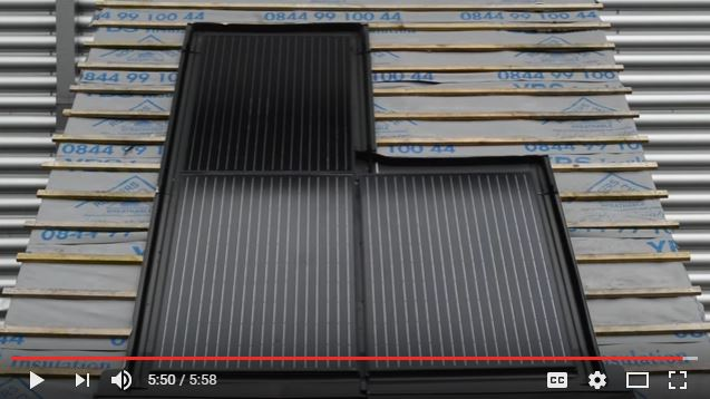 roof integrated solar installation video - corner