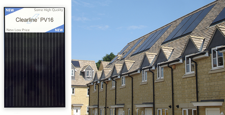 new roof integrated solar panels
